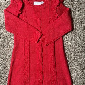 🎀3/$12🎀Toddler Red Sweater Dress 5T